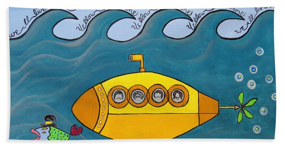 The Beatles Yellow Submarine Bath or Beach Towel