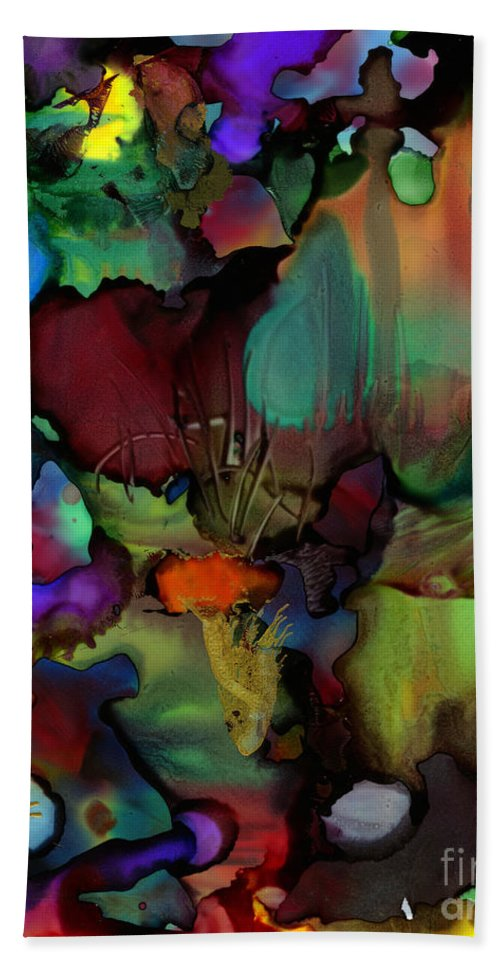 Ink Beach Towel featuring the painting Life In Another World by Angela L Walker
