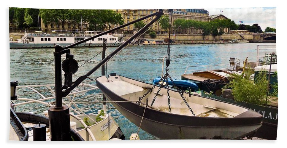 Abstract Beach Towel featuring the photograph Life On The Seine by Lauren Leigh Hunter Fine Art Photography