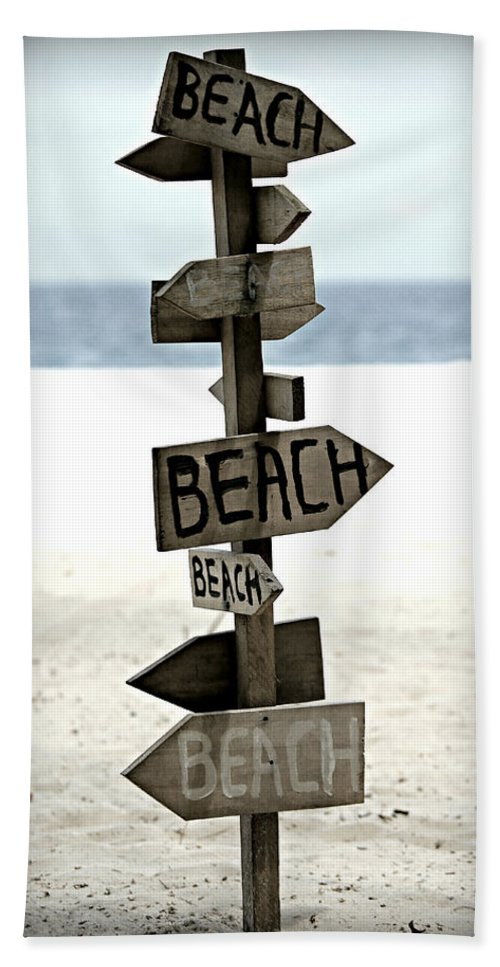 Beach Beach Towel featuring the photograph Life's A Beach by Stephen Stookey