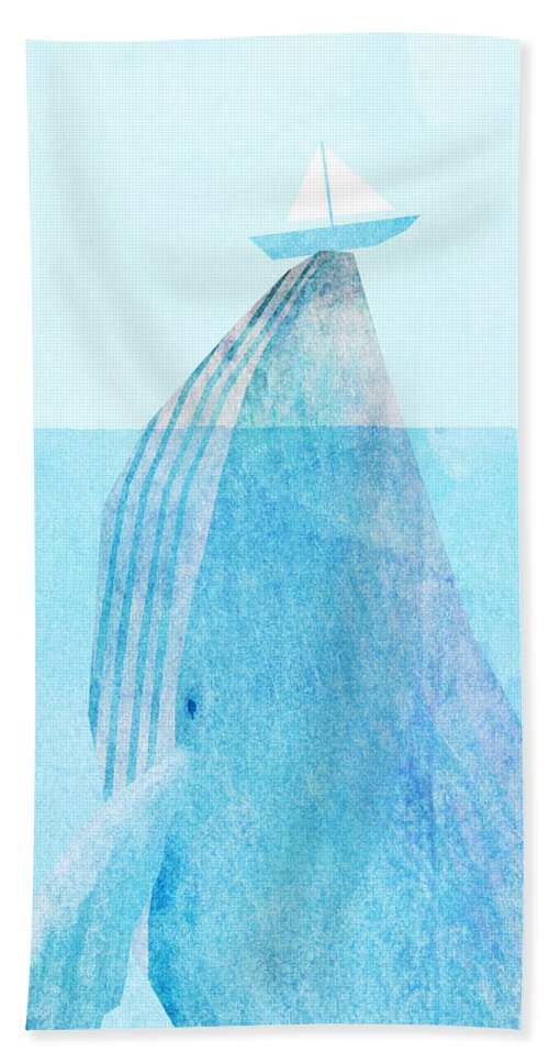 Whale Beach Towel featuring the drawing Lift by Eric Fan