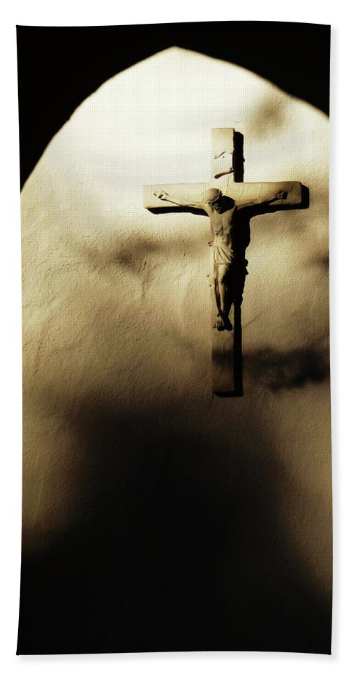 The Cross Beach Towel featuring the photograph Light And Shadows... by Xueling Zou