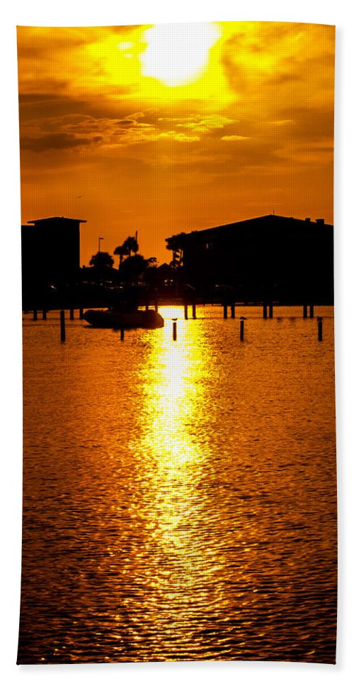 Sunset Beach Towel featuring the photograph Light In The Sky by Jon Cody