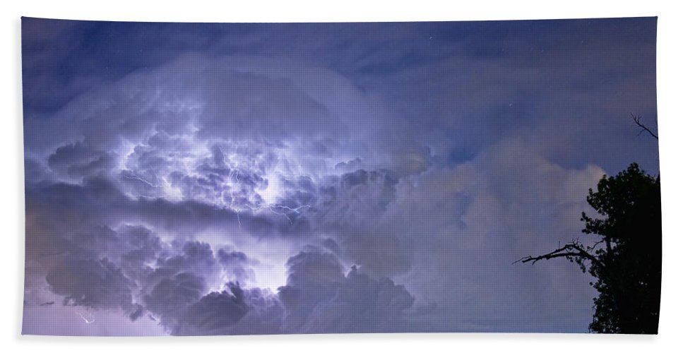 Lightning Beach Towel featuring the photograph Light Show by James BO Insogna
