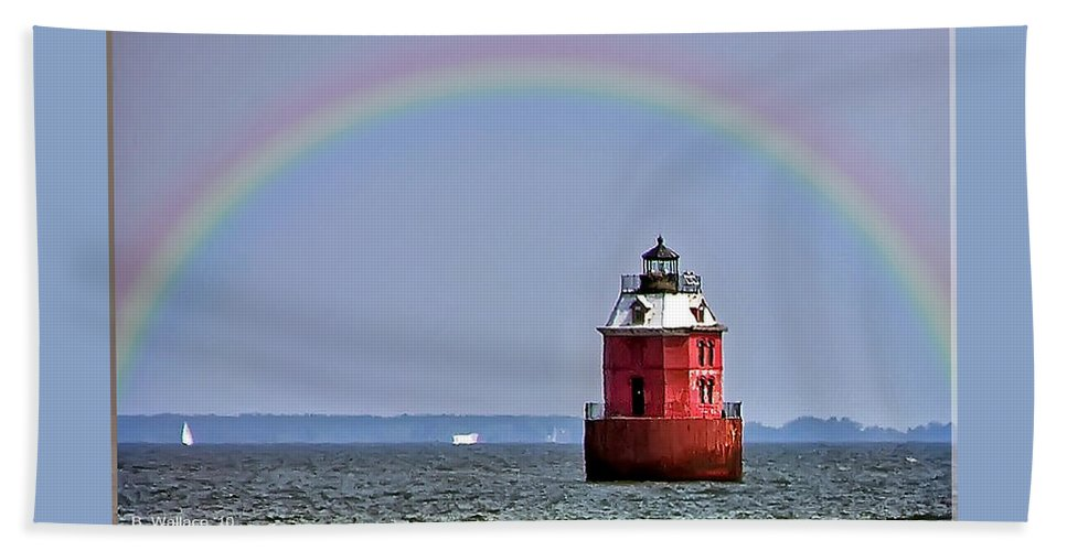 2d Beach Towel featuring the photograph Lighthouse On The Bay by Brian Wallace