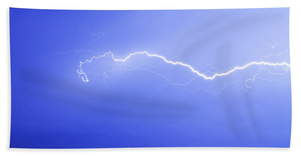 Lightning Beach Towel featuring the photograph Lightning Over North Boulder Colorado Ibm by James BO Insogna