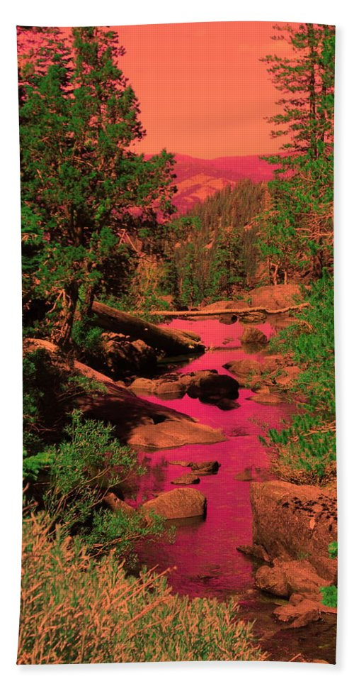 Psychedelic Beach Towel featuring the photograph Like A Song It Sings To Me by Sue McElligott