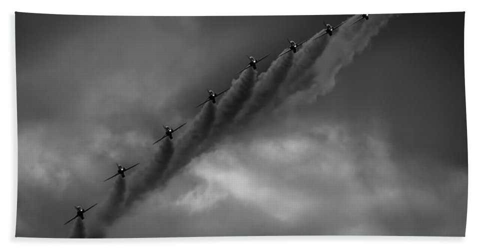 Bae Beach Towel featuring the photograph Line Abreast by Gareth Burge Photography