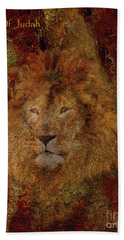 Lion Art Beach Towel featuring the photograph Lion Of Judah by Constance Woods
