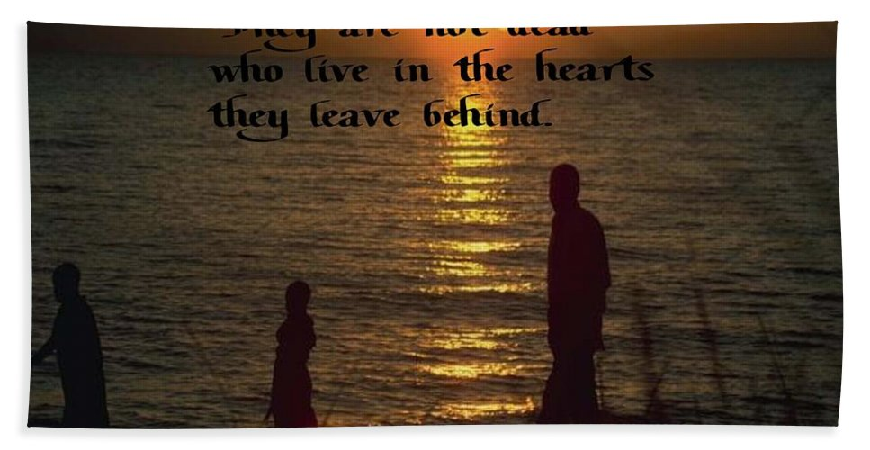 Sunset Beach Towel featuring the photograph Live In The Heart by Gary Wonning