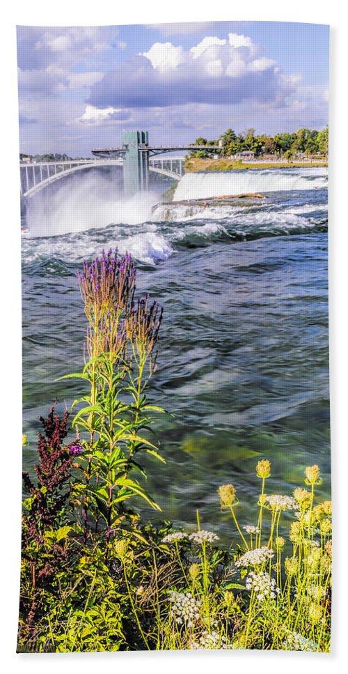Living On The Edge Niagara Falls Beach Towel featuring the photograph Living On The Edge Niagara Falls by LeeAnn McLaneGoetz McLaneGoetzStudioLLCcom