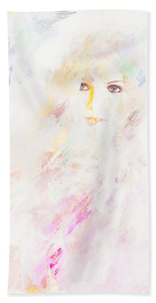 Portrait Beach Towel featuring the digital art Livingston by Galen Valle