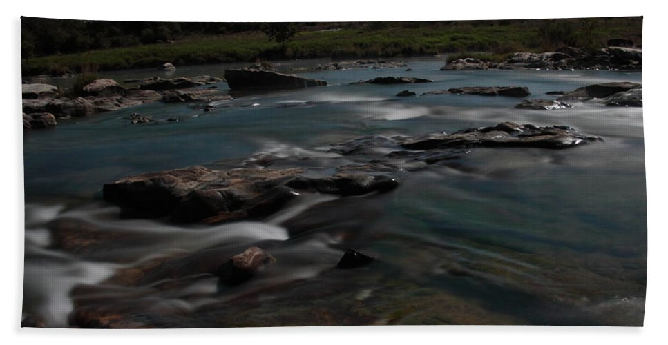 Llano River Beach Towel featuring the photograph Llano River 2am-105143 by Andrew McInnes