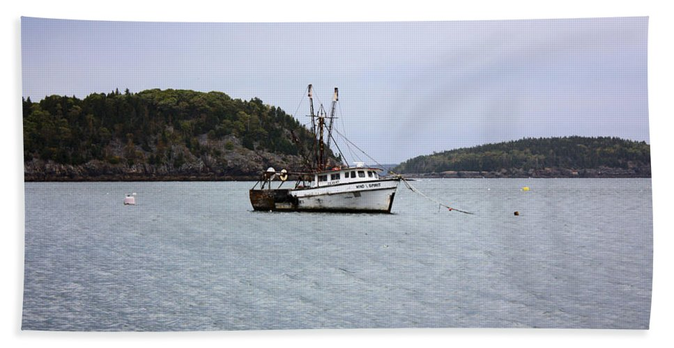 Fishing Boat Beach Towel featuring the photograph Lobster Fishing by Kristin Elmquist