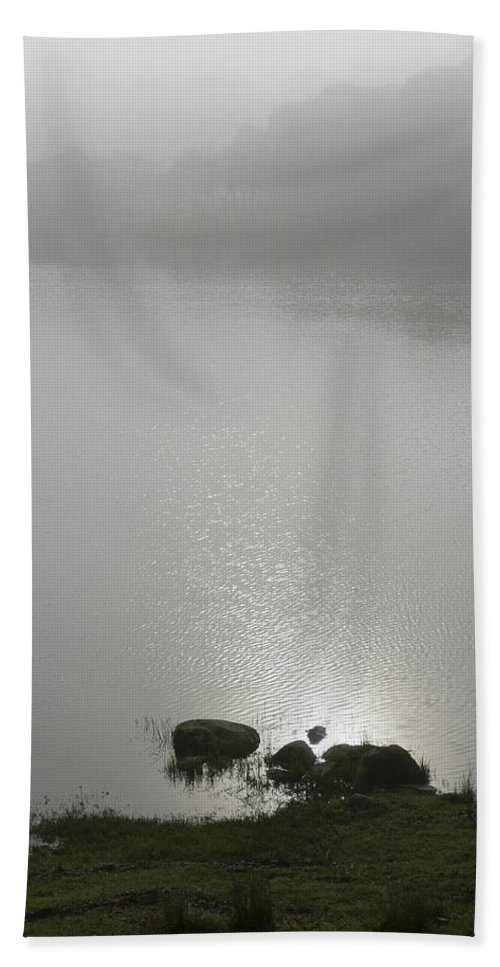 Mist Beach Towel featuring the photograph Loch Awe Misty Morning by Gary Eason