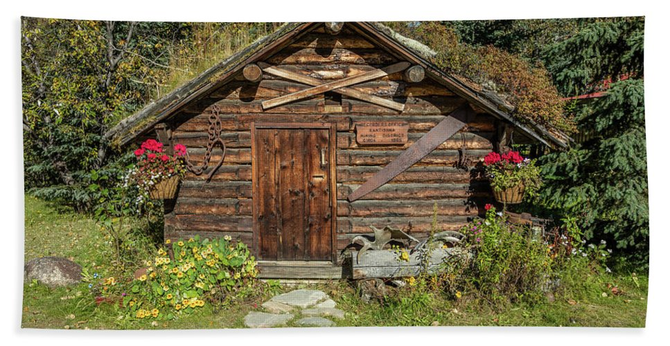 Photography Beach Towel featuring the photograph Log Cabin Kantishna, Alaska, Mnt by Panoramic Images
