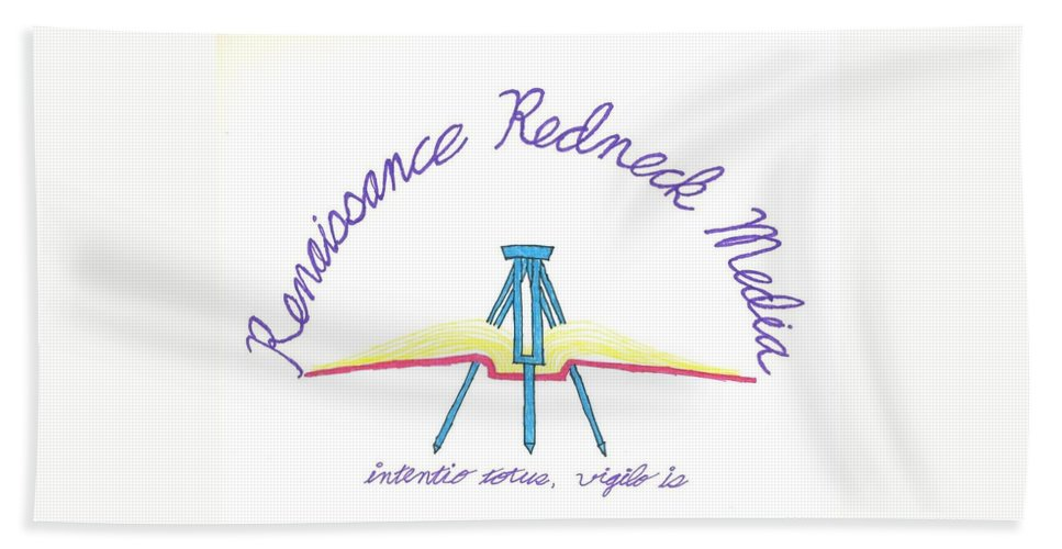 Renaissance Beach Towel featuring the drawing Logo by David S Reynolds