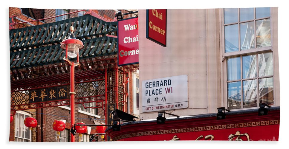 London Beach Towel featuring the photograph London Chinatown 02 by Rick Piper Photography