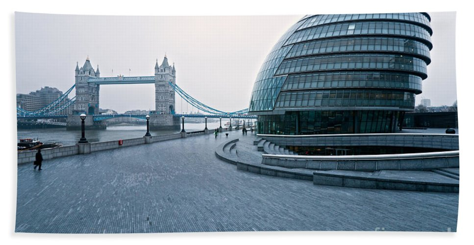 Architecture Beach Towel featuring the photograph London City Hall by Luciano Mortula
