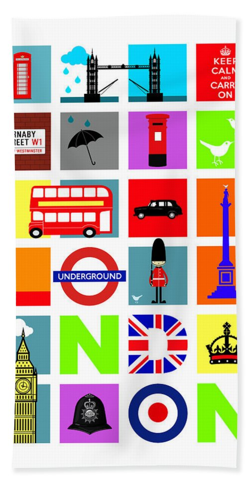 London Beach Towel featuring the photograph London by Mark Rogan