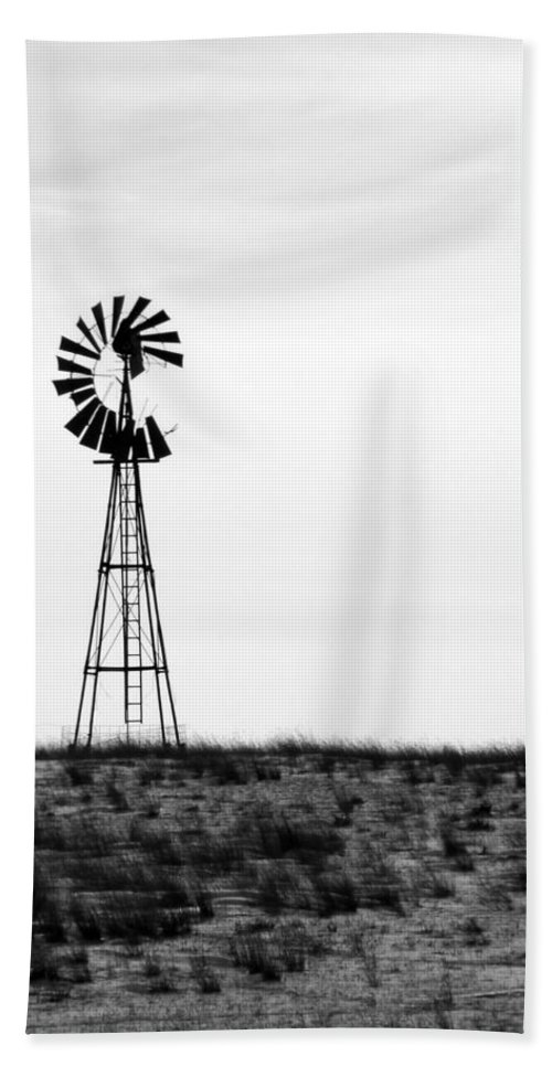 Beach Towel featuring the photograph Lone Windmill by Cathy Anderson