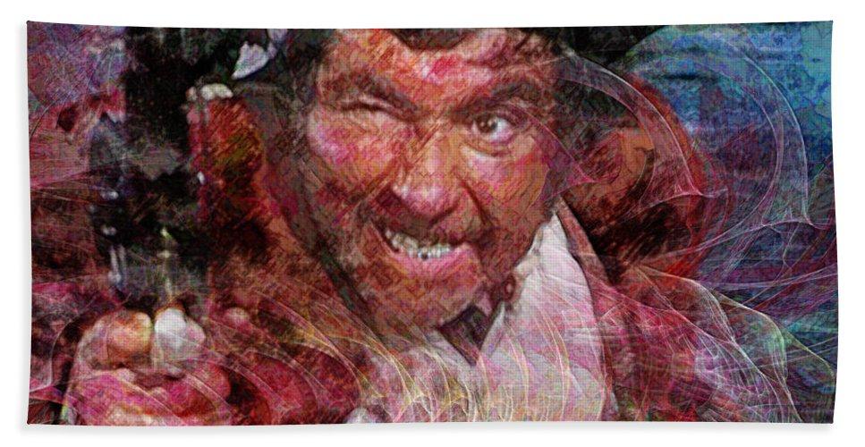 Long John Silver Beach Towel featuring the digital art Long John - Square Version by John Beck