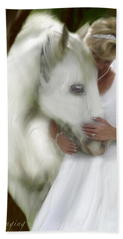 Bride Of Christ Art Beach Towel featuring the painting The Longing by Constance Woods