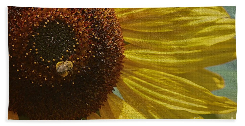 Sunflower Beach Towel featuring the photograph Look At All This Food by Deborah Benoit