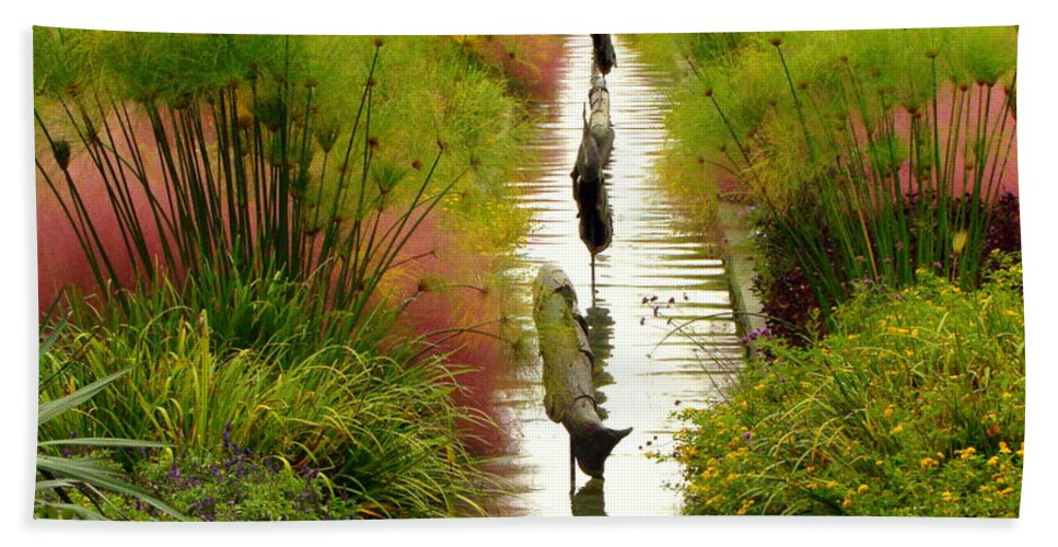Fine Art Beach Towel featuring the photograph Looking Down Reflection Canal by Rodney Lee Williams