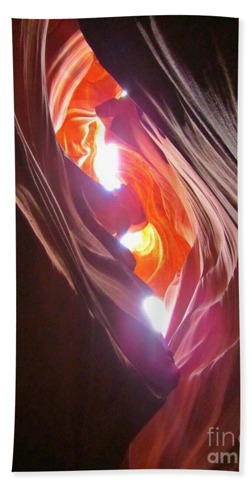 Beautiful Canyons Beach Towel featuring the photograph Looking Up In Antelope Canyon by John Malone