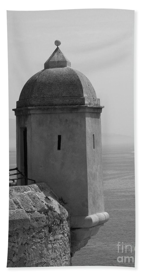 Lookout Tower Beach Towel featuring the photograph Lookout Tower by Christiane Schulze Art And Photography