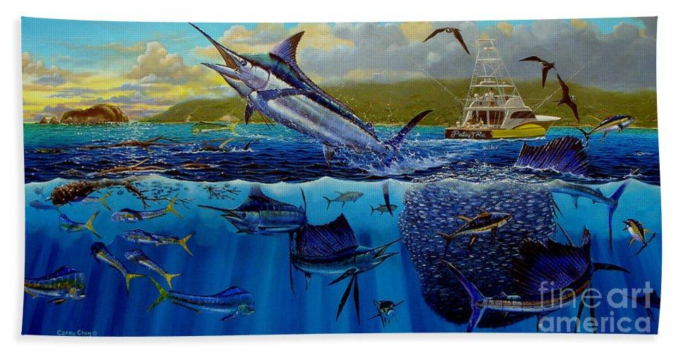 Los Suenos Beach Sheet featuring the painting Los Suenos by Carey Chen