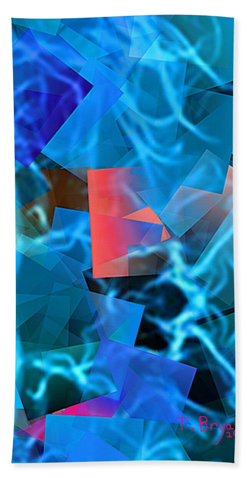 Geometrical Beach Towel featuring the painting Lose Myself by Thomas Bryant