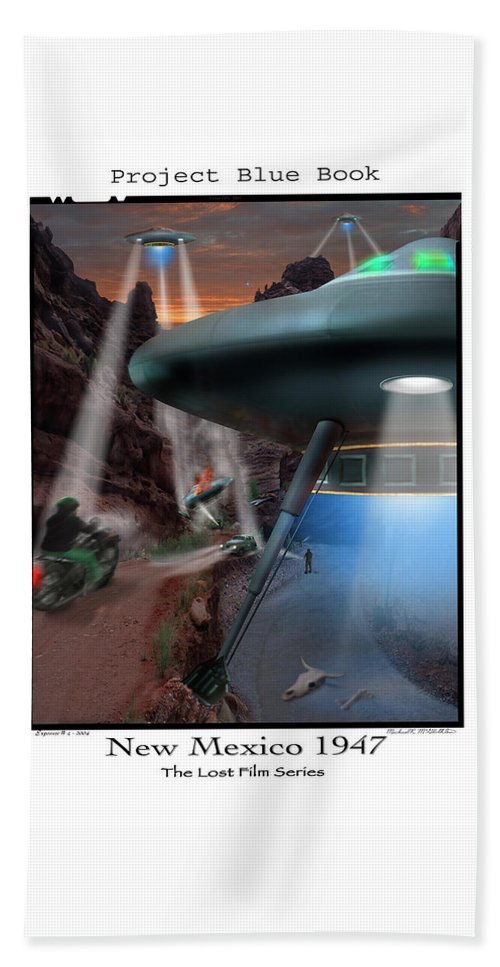 Ufo Beach Towel featuring the photograph Lost Film Number 4 by Mike McGlothlen