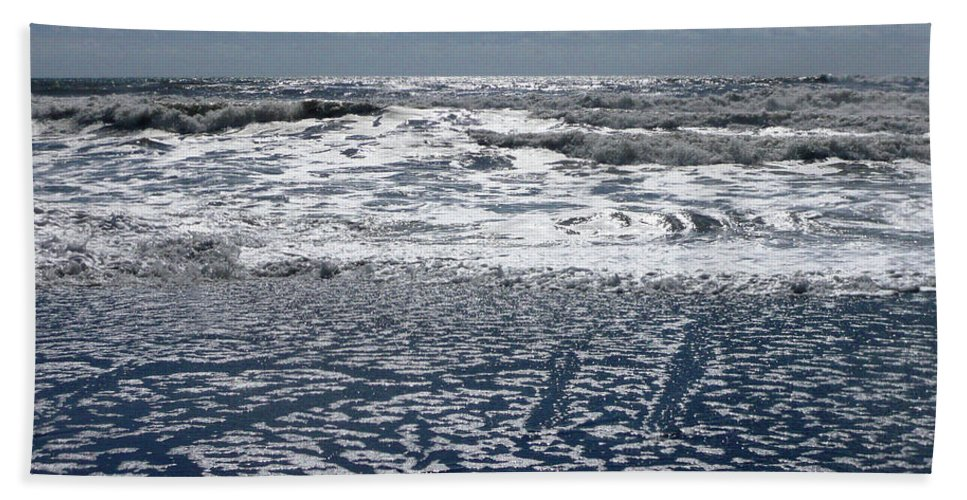 Abstract Beach Towel featuring the photograph Love Letters In The Sand by Lauren Leigh Hunter Fine Art Photography