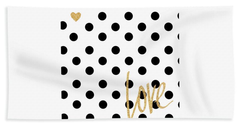 Love Beach Towel featuring the digital art Love With Dots by South Social Studio
