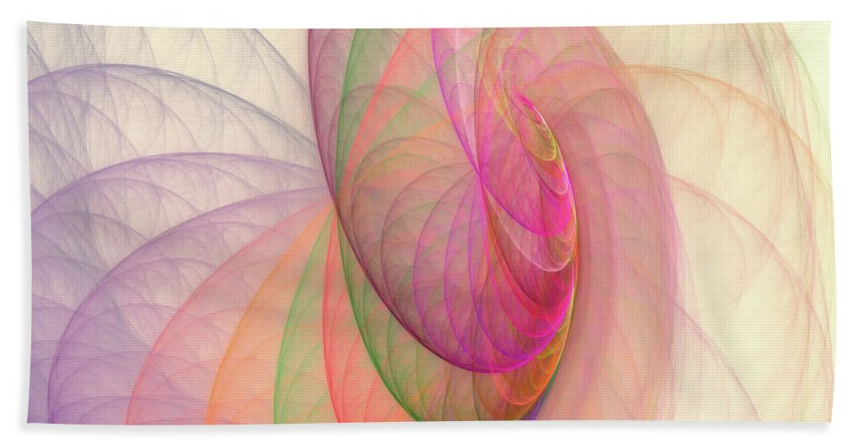 Fractal Beach Towel featuring the digital art Lovely Morning by Angela Stanton