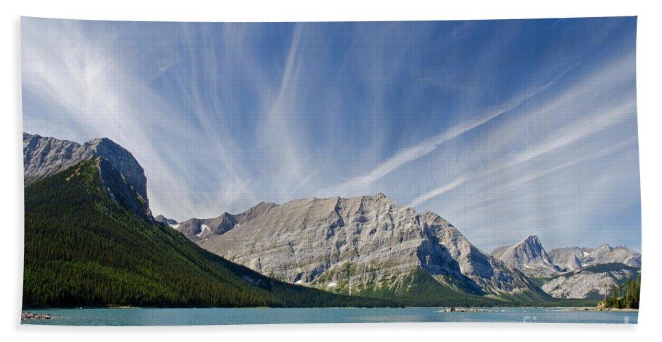 Spray Valley Beach Towel featuring the photograph Lower Kananaskis Lake by Ralf Broskvar