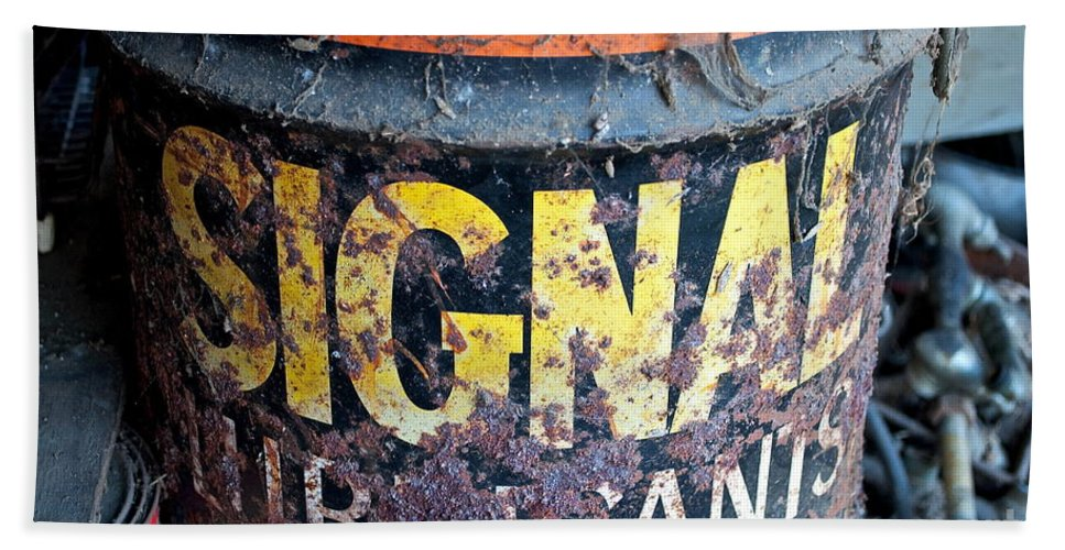 Oil Beach Towel featuring the photograph Lubricant Picking by Gwyn Newcombe