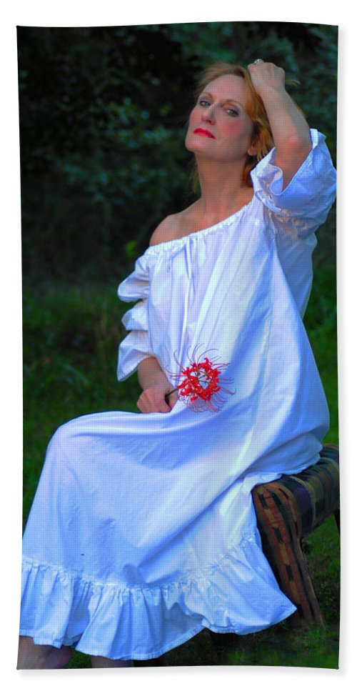 Victorian Gowns And Lingerie Beach Towel featuring the photograph Luminous by Pamela Smale Williams