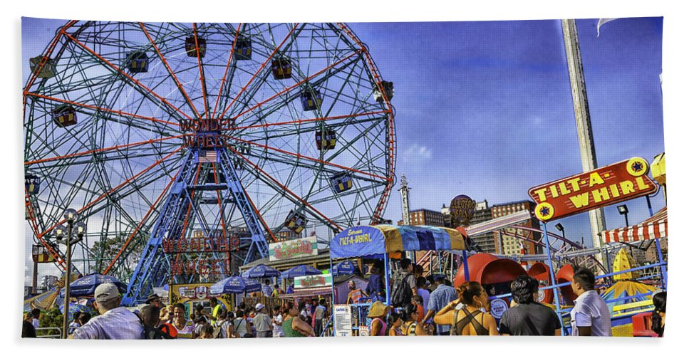 Luna Park Beach Towel featuring the photograph Luna Park 2013 - Coney Island - Brooklyn - New York by Madeline Ellis