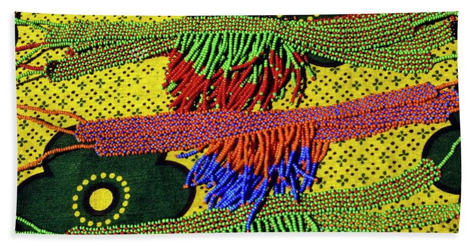 Africa Beach Towel featuring the photograph Maasai Beadwork by Michele Burgess