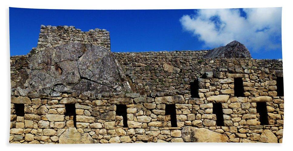 Peru Beach Towel featuring the photograph Machu Picchu Peru 13 by Xueling Zou