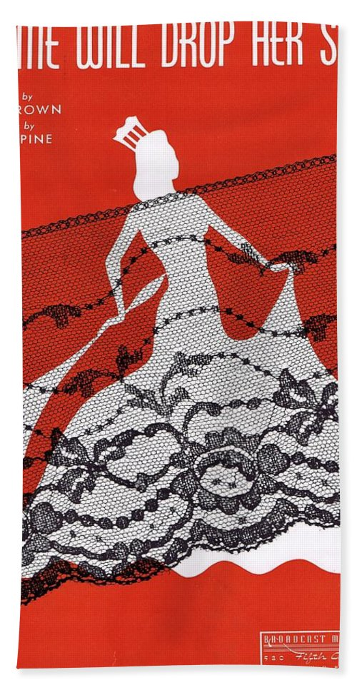 Nostalgia Beach Towel featuring the photograph Madame Will Drop Her Shawl by Mel Thompson