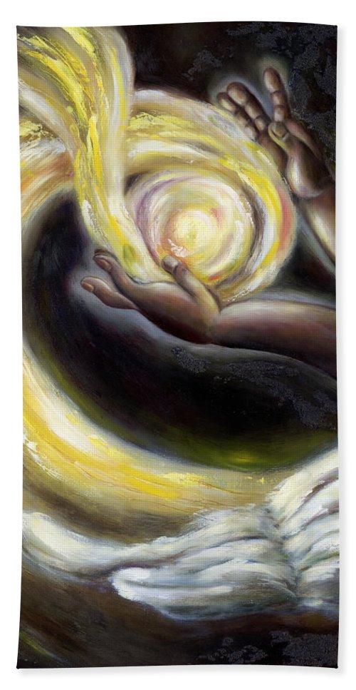 Angel Beach Towel featuring the painting Magic by Hiroko Sakai