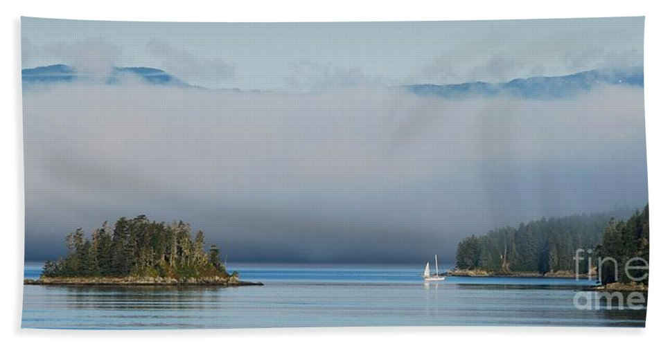 Tracy Arm Beach Towel featuring the photograph Magic Morning In Tracy Arm Alaska by Camilla Brattemark