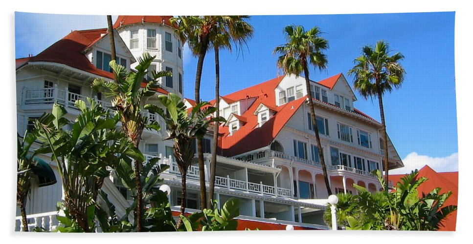 Hotel Beach Towel featuring the photograph Magnificent Hotel Del by Denise Mazzocco