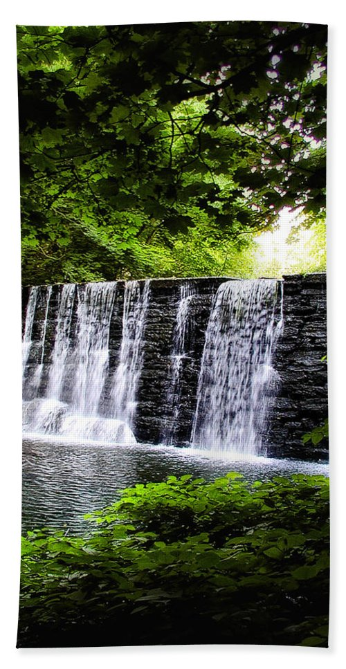 Main Beach Towel featuring the photograph Mainline Waterfall by Bill Cannon