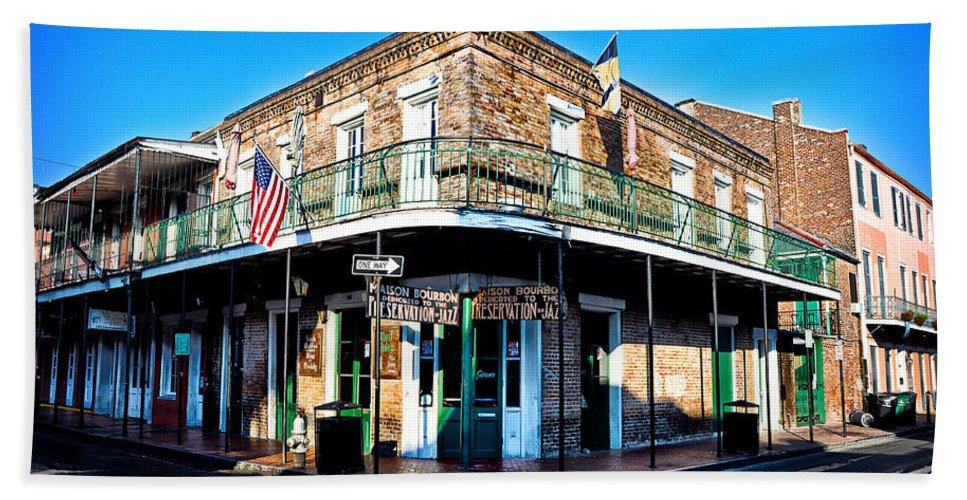 Maison Beach Towel featuring the photograph Maison Bourbon - New Orleans by Bill Cannon