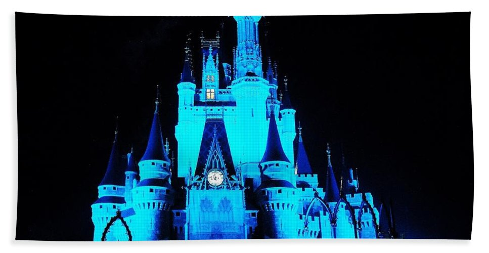 Disney World Beach Towel featuring the photograph Make It Blue by Benjamin Yeager